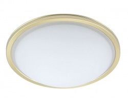 2 Light Flush Ceiling Light Satin Brass