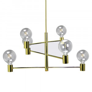 Modern 6 Bulb Chandelier Movable 3889