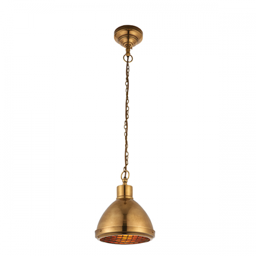 Carr 1 Light Pendant Brass