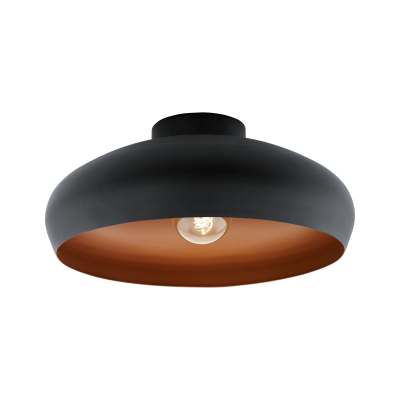 Mogano Ceiling Flush Light Black