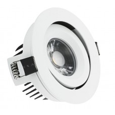 10W IP44 Dimmable Adjustable LED Fire Rated Downlight AFD110ADJD/30