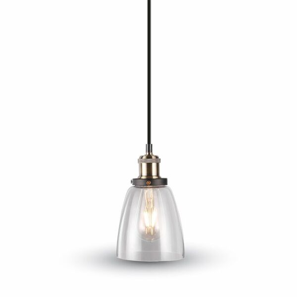 Glass with metal series pendant transparent glass 3735